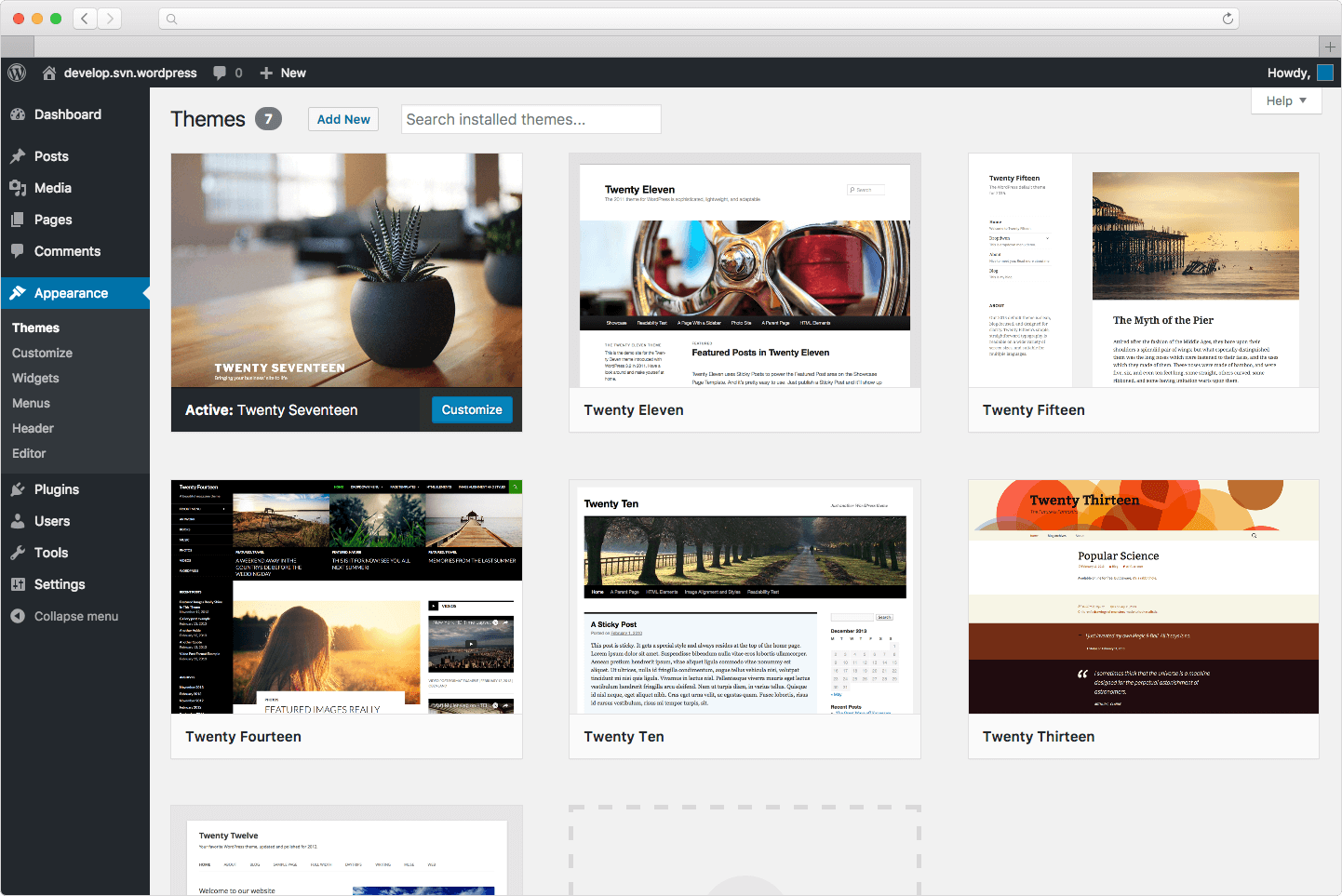 WordPress-Themes-Dashboard