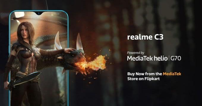 Realme-C3-MediaTek-G70-Processor