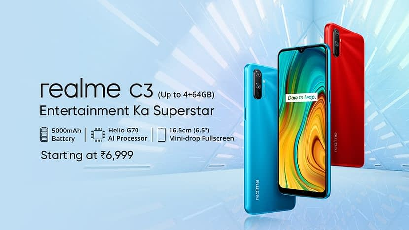 Realme C3 with MediaTek Helio G70, Dual Camera Launched in India