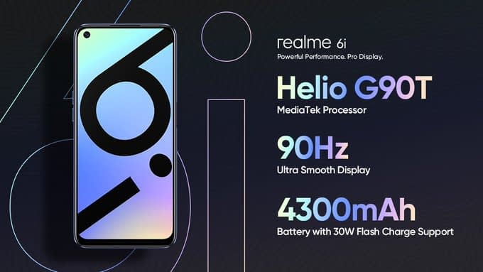 Realme 6i with 6.5-inch FHD+ 90Hz display, Helio G90T, 48MP quad rear camera launched in India