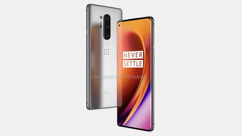 OnePlus 8 Pro renders leaked show punch hole display with Quad camera setup