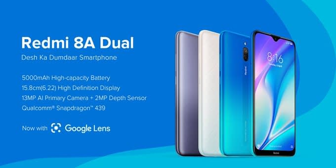 Redmi 8A Dual Smartphone launched in India, Specs, Features