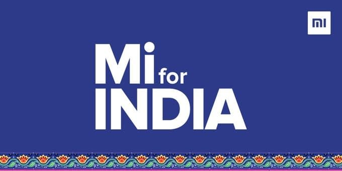 "Xiaomi India reveals new Logo ""Mi for India"" today"
