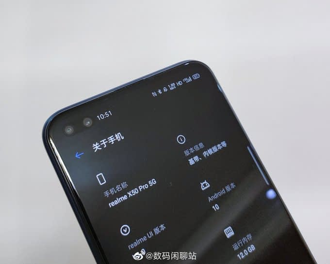 Realme-X50-pro-display