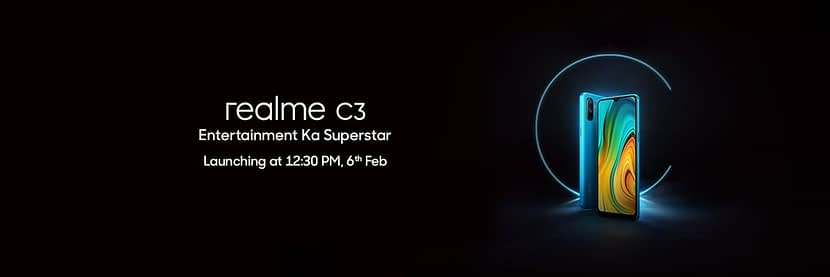Realme C3 official confirmed to Launch on 6 Feb