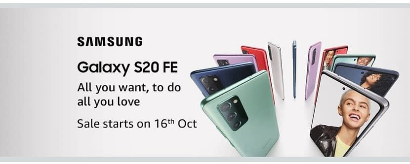 Samsung Galaxy S20 FE launched on 6th October, Sale goes on 16th October in India