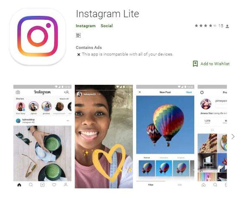 "Instagram testing 'Instagram Lite"" in India"