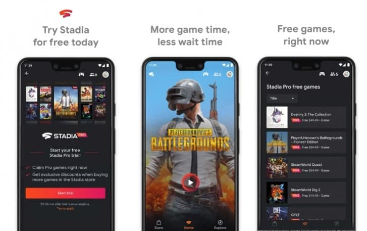 Google Stadia game streaming service will support 720p quality over mobile data