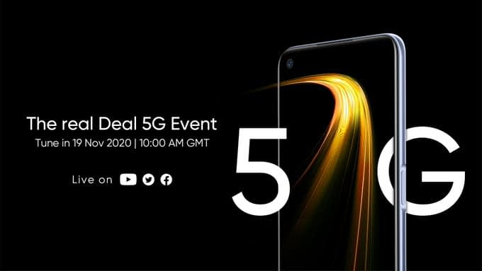 Realme 7 5G will set to announced in Europe on November 19