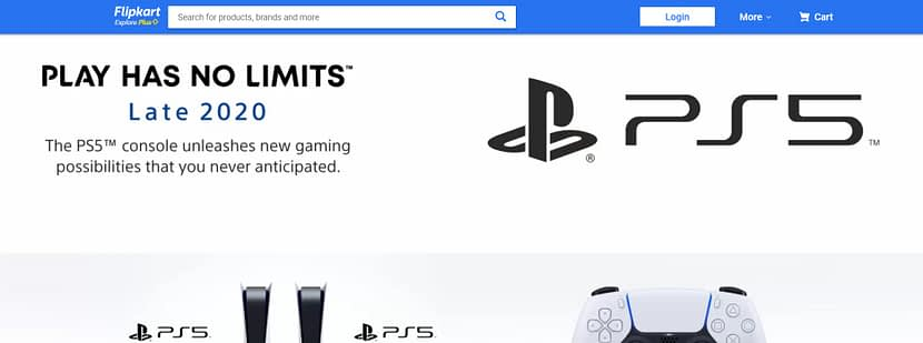 "Sony PlayStation 5 Teaser Page Goes live on Amazon India ""Late 2020"" teaser page"