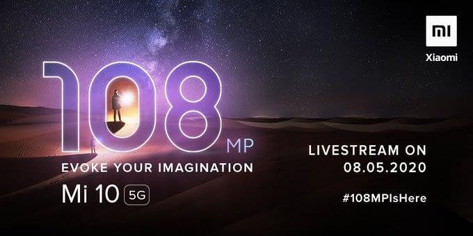 Manu Kumar Jain teasers Mi 10 5G smartphone with 108MP camera event on 8 May India