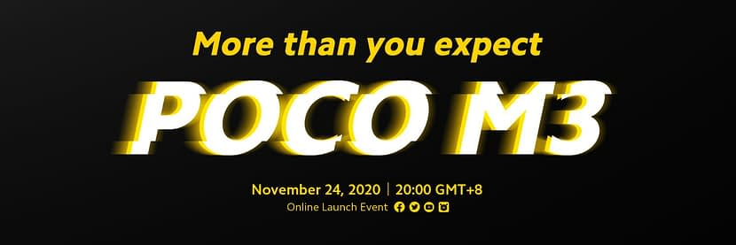 POCO Global teasers POCO M3 launch tipped to 24 November