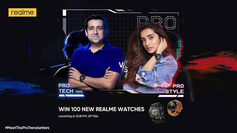 Realme Watch S Master Edition Designed by Korean Artist Grafflx launching on December 23