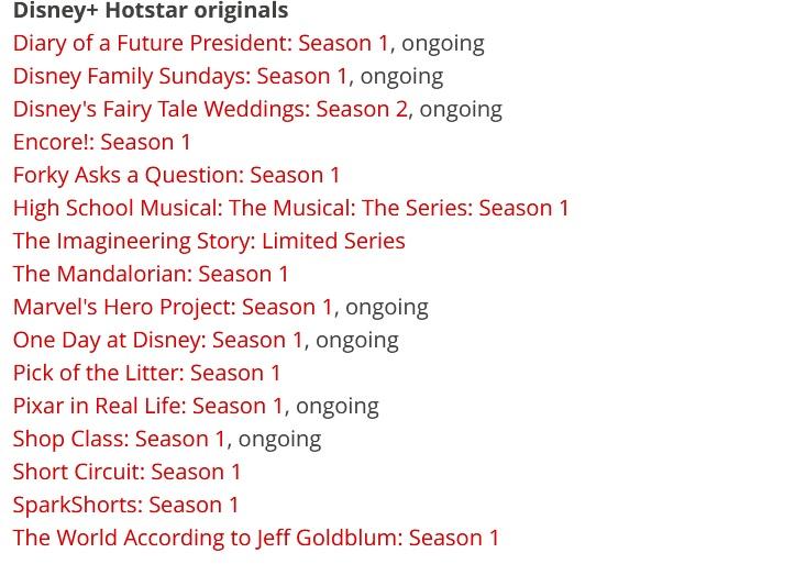 Disney+Hotstar originals-shows