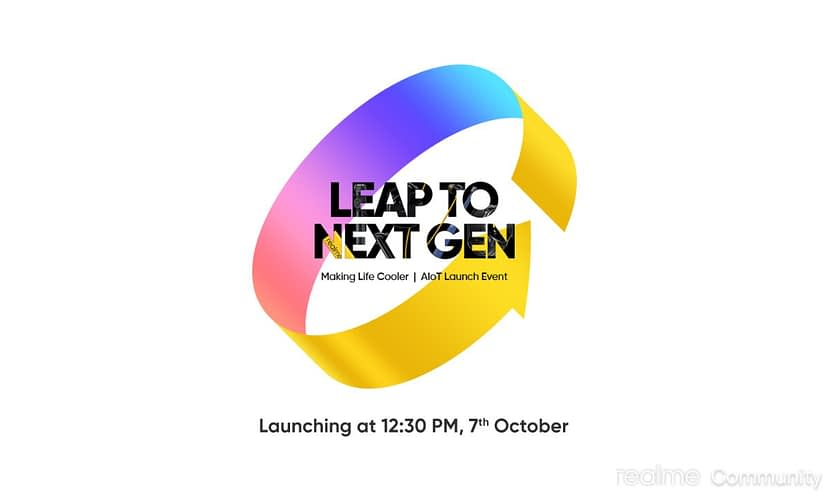 Realme will launch Realme 7i, 7 Pro Sun kissed Leather and Realme SLED 4K smart TV on 7 October Event