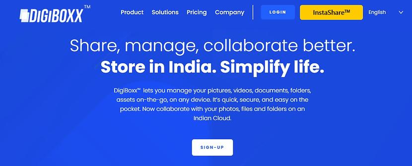NITI Aayog first-ever announced Indian Digital Cloud storage Digiboxx