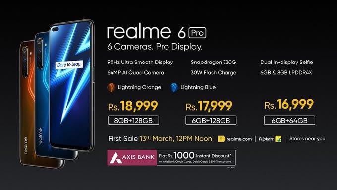 Realme 6 Pro, Realme 6 Early Access Sales on March 10
