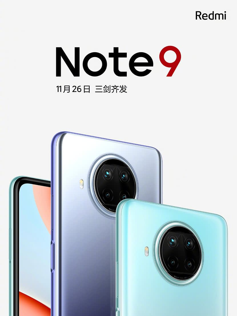 Xiaomi Redmi Note 9, 9S 4G and Note 9 Pro 5G series official set to launch on 26 November