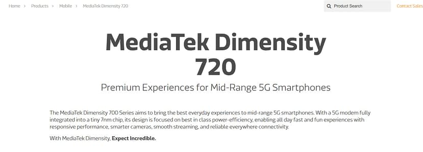 MediaTek Dimensity 720 mid-range 5G chipset launched